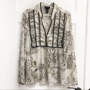 Lane Bryant Embroidered Popover Blouse